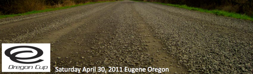 Eugene Roubaix course photo, Oregon Cup logo